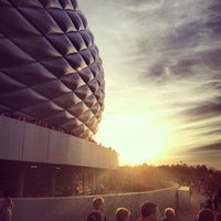 Photo taken at Allianz Arena by Bertie S. on 10/26/2013