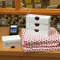 Photo taken at Munsons Chocolates by Diana B. on 2/8/2016