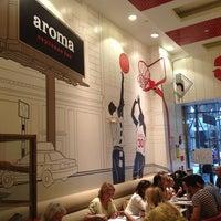 Photo taken at Aroma Espresso Bar by Carol C. on 8/9/2013