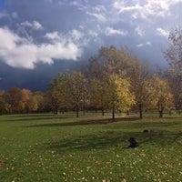 Photo taken at Jardin Communautaine Cabrini by Jocelyn B. on 10/18/2013
