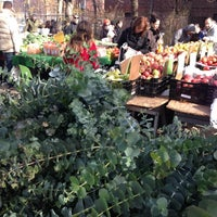 Photo taken at Jackson Heights Greenmarket by Jen on 11/18/2012