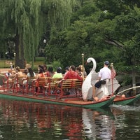 Photo taken at The Swan Boats by Jason G. on 7/4/2015