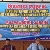 Photo taken at PKBI Gunung Kidul by Elvita Dewi W. on 2/11/2015