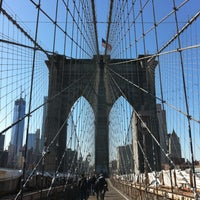 Photo taken at Brooklyn Bridge Promenade by Chiara C. on 4/25/2013