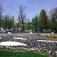 Photo taken at Bolotnaya Square by Olka C. on 5/9/2013