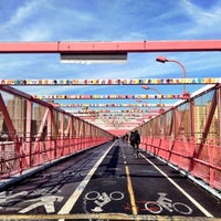 Photo taken at Williamsburg Bridge Pedestrian & Bike Path by Lauren B. on 11/6/2012