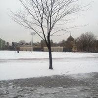 Photo taken at McCarren Park Track by Lauren B. on 3/19/2013