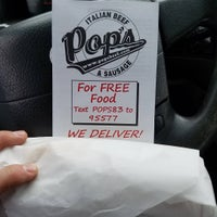 Photo taken at Pop's Italian Beef by Jay G. on 3/30/2016