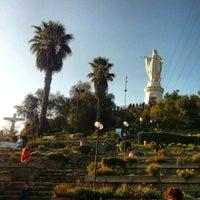 Photo taken at Virgen Cerro San Cristóbal by Leonardo Z. on 9/26/2013