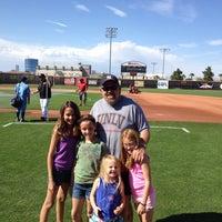 Photo taken at Earl E. Wilson Baseball Stadium by Chuck D. on 4/12/2014