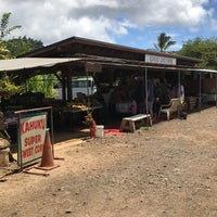 Photo taken at Kahuku Land Farms Fruit Stand by Pam B. on 6/12/2017