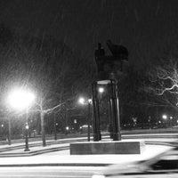 Photo taken at Duke Ellington Memorial by Robert Graham by fumio i. on 1/26/2013
