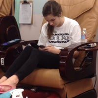 Photo taken at Fancy Nails by Genna F. on 2/14/2014