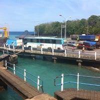 Photo taken at Pelabuhan Padang Bai by Pandhe N. on 6/21/2013