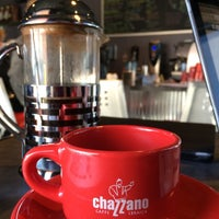 Photo taken at Chazzano Coffee Roasters by Julie Y. on 3/24/2015