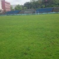 Photo taken at KTÜ Futbol Stadyumu by Ahmet E. on 5/6/2016