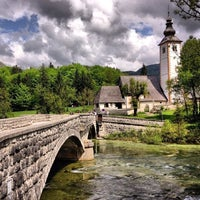 Photo taken at Bohinjsko jezero (Bohinj Lake) by Tolyasha on 6/2/2013