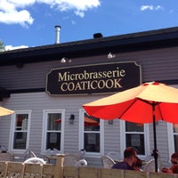 Photo taken at Microbrasserie Coaticook by Geneviève D. on 8/2/2015