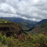 Photo taken at Hanapepe Canyon Lookout by Christine H. on 6/15/2013