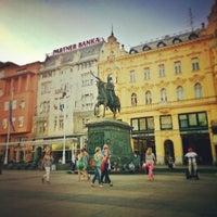 Photo taken at Trg bana Josipa Jelačića by jiazi on 6/21/2013