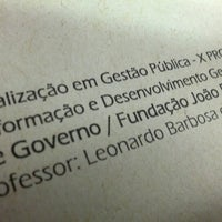Photo taken at Fundação João Pinheiro by Daniel H. on 11/27/2012