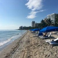 Photo taken at Ritz Carlton Key Biscayne white sand beach by Jonas G. on 10/29/2015