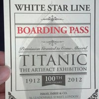 Photo taken at Titanic The Artifact Exhibition by michele m. on 12/31/2012