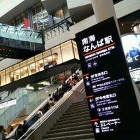 Photo taken at Nankai Namba Station (NK01) by たろたろ on 4/25/2013