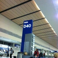 Photo taken at Gate D40 by Bevan C. on 11/23/2012