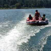 Photo taken at On The Boat At Belews Lake by Bonnie O. on 7/29/2012