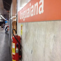 Photo taken at MetrôRio - Estação Uruguaiana by Felippe L. on 6/15/2012