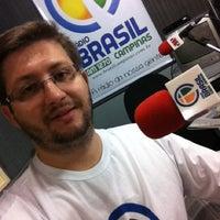 Photo taken at Estudio Ao Vivo Rádio Brasil AM 1270 kHz by Fabiano F. on 10/12/2012