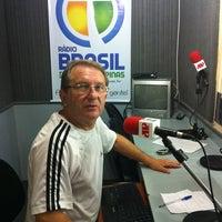 Photo taken at Estudio Ao Vivo Rádio Brasil AM 1270 kHz by Fabiano F. on 10/31/2012