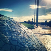 Photo taken at Pearl of the Pacific Fountain by Calvin C. on 12/16/2012
