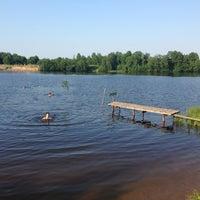 Photo taken at Озеро Сювеярви (Хиттоловское) by Anna F. on 6/25/2013
