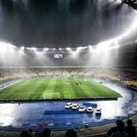 Photo taken at Olimpiyskiy Stadium by Denis K. on 8/14/2013