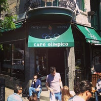 Photo taken at Café Olimpico by Alex T. on 5/27/2013