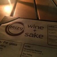 Photo taken at Mizu Asian Bistro + Bar by Chris R. on 11/20/2014
