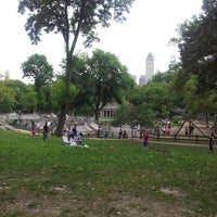 Photo taken at Heckscher Playground by Bill E. on 8/12/2013