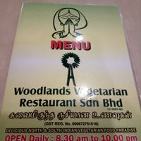 Photo taken at Woodlands Vegetarian Restaurant by Vaa L. on 2/27/2017