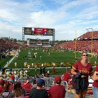 Photo taken at Jack Trice Stadium by Eric R. on 9/14/2013
