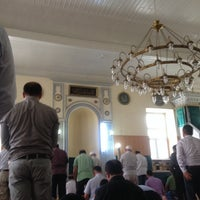 Photo taken at Akbıyık Camii by İbrahim G. on 6/27/2014