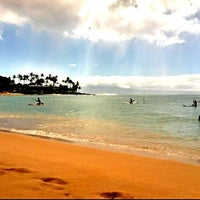 Photo taken at Napili Beach by melleemel on 9/28/2012