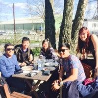 Photo taken at Café Harpaviljongen by Angelyn T. on 4/19/2015