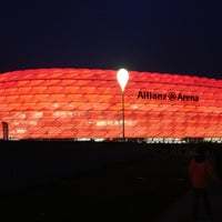 Photo taken at Allianz Arena by Simone V. on 4/3/2013