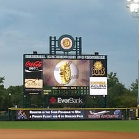 Photo taken at Bragan Field at the Baseball Grounds of Jacksonville by Mercedes W. on 6/30/2013
