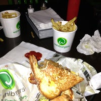 Photo taken at Wahlburgers by Michelle P. on 2/15/2013
