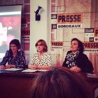 Photo taken at club de la presse by Bruno A. on 4/23/2014