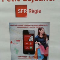 Photo taken at Boutique SFR ABBEVILLE LINGERS by Bertrand J. on 4/12/2013