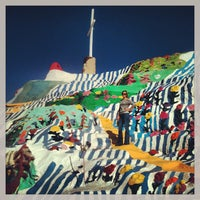 Photo taken at Salvation Mountain by Jonas W. on 12/27/2012